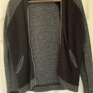 Sundry black and grey zip up sweater